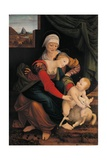 Virgin and Child with St. Anne and the Lamb Poster by Bernardino Lanino