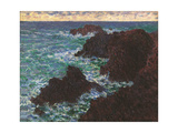 Rocks at Belle Ile Giclee Print by Claude Monet