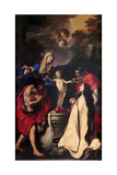 Madonna and Child, Sts. Therese, John the Baptist, Charles Borromeo Posters af Carlo Cignani