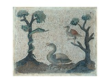 Mosaic with water-fowls, 18th c. National Museum, Rome, Italy Prints