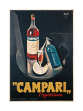 Poster Advertising Campari l'aperitivo Gicleetryck av Marcello Nizzoli