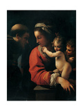 Madonna & Child with Sts. Francis and John the Baptist as a Child Giclee-tryk i høj kvalitet af Bartolomeo Schedoni
