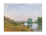 Island of Saint Denis Print by Alfred Sisley