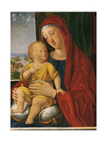 Madonna and Child of the Beautiful Eyes, by Vivarini Alvise, ca. 1480. Ca d'Oro,Venice, Italy Giclée-Druck von Alvise Vivarini