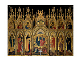 Polyptych of the Coronation of the Virgin and Saints, Jacobello del Fiore, 15th c. Italy Poster by Jacobello del Fiore