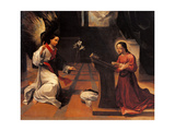 Annunciation Plakater af Ludovico Carracci
