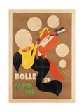 Mario Pompei - Advertising poster, Soap bubbles - Poster