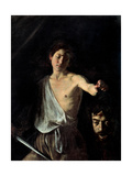 David with the Head of Goliath Plakater af Caravaggio