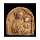 Madonna med barnet Plakater af Sienese