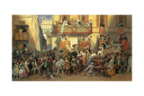Carnival along the Corso Posters by Carl Friedrich Heinrich Werner