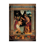 Baptism of Jesus Print by Sigismondo de Magistris