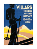 Advertising poster for Villars, Switzerland Giclee Print by Johannes Handschin