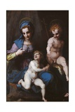 Virgin Mary and Child with Young St. John,  by Andrea del Sarto, 1515. Borghese Gallery, Rome Posters by  Andrea del Sarto
