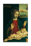 Madonna and Sleeping Child Art by  Bergognone