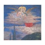 Worshipping Angels Giclee-tryk i høj kvalitet af Benozzo Gozzoli