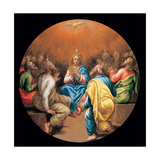 Mysteries of the Rosary, Pentecost Prints by Vincenzo Campi