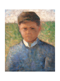 Young Peasant in Blue Poster by , Pierre Puvis de Chavannes