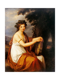 Portrait of a Young Girl as a Bacchante (Bacchante) Poster by Angelica Kauffmann