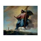 Christ in the Act of Blessing Montebelluna Poster por Grigoletti Michelangelo