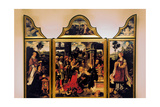 Triptych of the Adoration of the Magi Kunstdrucke von Joos Van Cleve