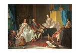 Family of Don Felipe de Bourbon Plakat af Giuseppe Baldrighi