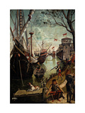 Legend of St. Ursula. Arrival in Cologne, by Vittore Carpaccio, 1490. Accademia, Venice, Italy Giclee Print by Vittore Carpaccio