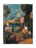 Tempest Print by  Giorgione