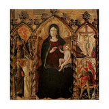 Madonna with Child, with Saints and Crucifixion Prints by Arcangelo di Cola