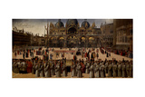 Procession in St. Mark's Square Prints by Gentile Bellini