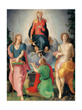 Madonna of the Girdle between St James and St Sebastian Prints by Pontormo Carrucci