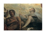 Miracle of the Manna, by Tintoretto, 1577. Scuola Grande di San Rocco, Venice. Detail. Giclee Print by Tintoretto