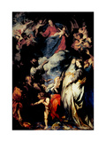 Madonna of the Rosary Print by Sir Anthony Van Dyck