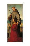St. Anthony with Donor, Giulia Trivulzio Prints by Marco D'oggiono