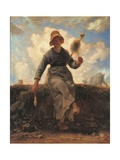Spinning Girl Posters by Jean-François Millet