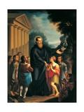 St. Jerome Emiliani, Antonio Caboni, 1844. San Lucifero Church, Cagliari, Sardinia, Italy Prints by Antonio Caboni