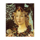 Primavera, Face of Flora Poster von Sandro Botticelli