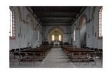 Church of San Lorenzo in Monlu, Interior, 1267. Milan, Italy Posters
