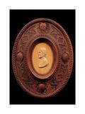 Frame with portrait of Dante Alighieri Art by Ferdinando Romanelli