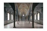 Church of Santa Maria Incoronata, interior, nave, 15th c. Milan, Italy Prints