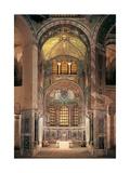 Basilica of San Vitale, Presbytery with mosaics, 6th c. Ravenna, Italy. Art
