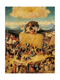 Hieronymus Bosch - Tryptych of Hay, (Full view, central panel, open) by Hieronymus Bosch,c.1500-02, Prado. Detail. Obrazy