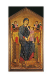 Madonna and Child Enthroned with Two Angels Posters by Cimabue di Pepo