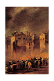 Fire in the San Marcuola Oil Depot Prints by Francesco Guardi