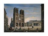 Villa Andrea, Notre-Dame de Paris, 1831. Palazzo Pitti, Florence, Italy Prints