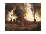 Dance of the Nymphs Giclee Print by Jean-Baptiste-Camille Corot