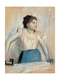 Woman Ironing Giclee Print by Edgar Degas