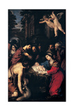 Adoration of the Shepherds, Pietro da Cortona, 1623. San Salvatore in Lauro Church, Rome Posters by , Pietro da Cortona