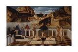Holy Allegory Plakater af Gentile Bellini
