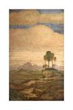 Landscape, Bernardino Luini, 16th c. Detail. San Maurizio al Monastero Maggiore Church, Milan Posters by Bernardino Luini