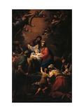 Jesu fødsel Posters af Francesco Mancini